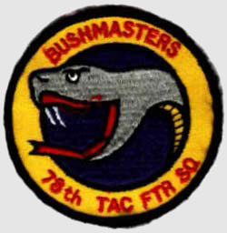 78th Tac Fighter Sq. 1982 England.