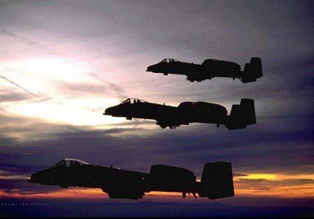 A-10 Thunderbolt II  A 10 Warthog Firing