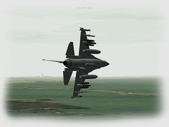 As I reach the IP I roll into a hard left turn and start searching the horizon for the airfield.