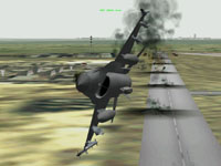 As I fly down the length of the runway my finger stays mashed on the pickle button and it feels like it takes hours for the last weapon to drop free.