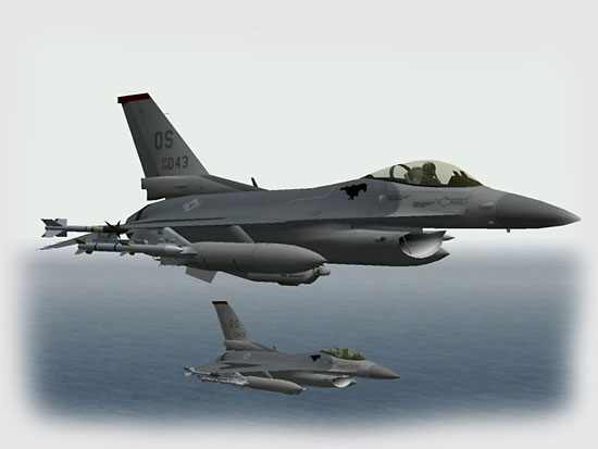 As we gain distance from the enemy coast I let our altitude climb slowly and order my wingmen into arrowhead formation for the flight home...
