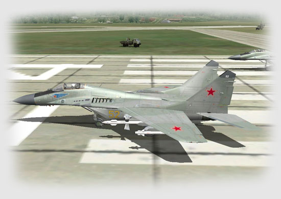 Vasily taxies into place behind me on the runway and we report to the tower...