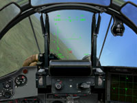 II flip into helmet mode and using the 36-Sh electro-optical system, I fire an R-73 just as the F-16 locks me up.