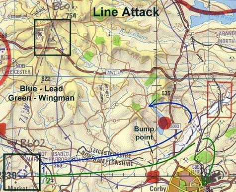Line Attack Map