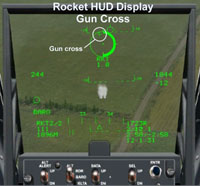 Rocket HUD Display Gun Cross