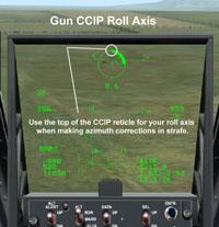 Gun CCIP Roll Axis