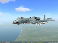 Martin kicked left rudder, putting the A-10's nose nearer to the enemy SAM system...