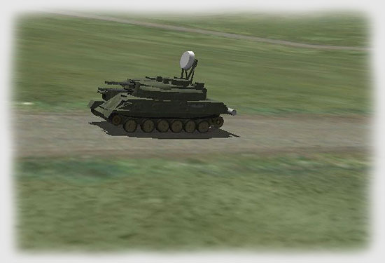The Shilka was highballing around the tank farm's perimeter fence...