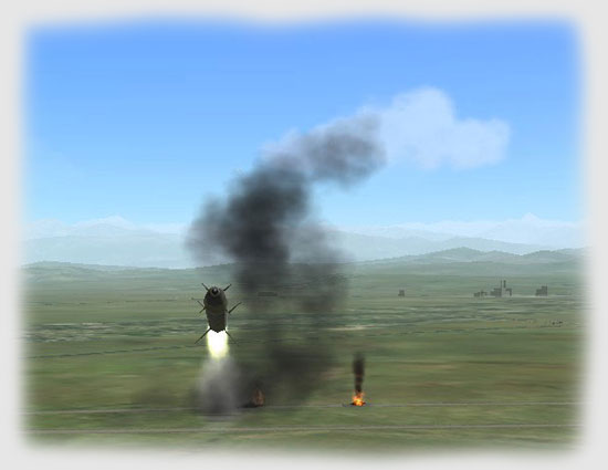 ...the SA-8 detonated harmlessly...