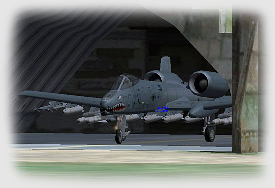 American A-10A ground attack aircraft rested fitfully in their cradles of earth and concrete.