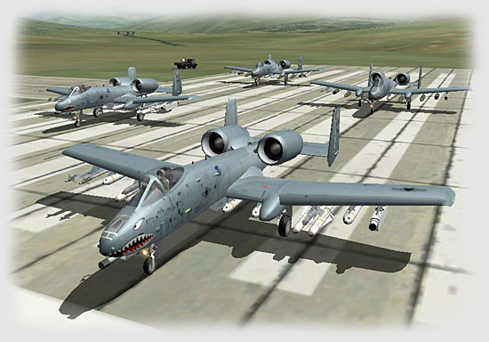 Soon after, the A-10s...