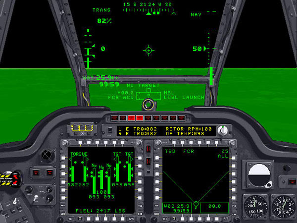 Cockpit View with Night Vision
