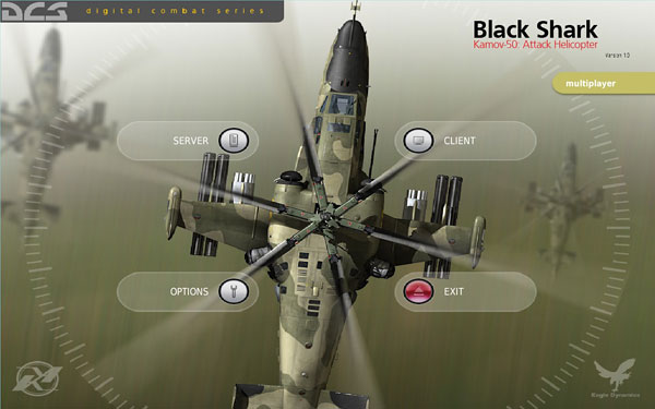 DCS: Black Shark Multiplayer main menu