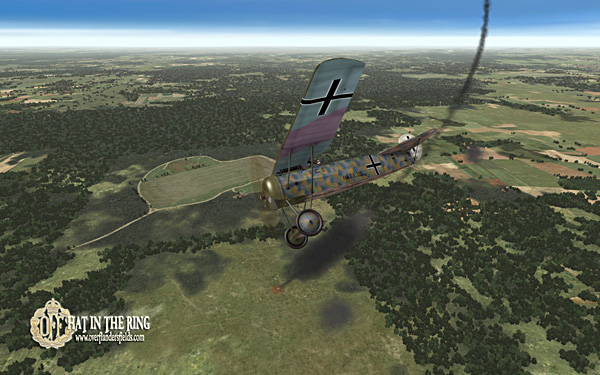 A Fokker E.V. downs the enemy.