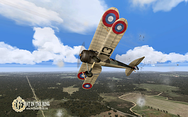 A Nieuport 28 under attack.