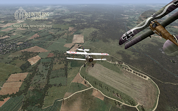 Nieuport 24 showing improved terrain and textures.