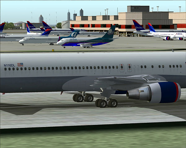 Real Life Traffic at KATL Generated by Add-on FS Traffic