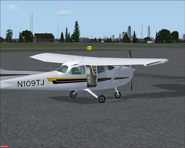 The Virtual N109TJ Waiting Patiently on the Ramp for The Next Adventure