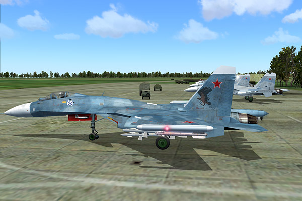 """It is a standard Su-27K, what you Westerners call the Su-33...."""