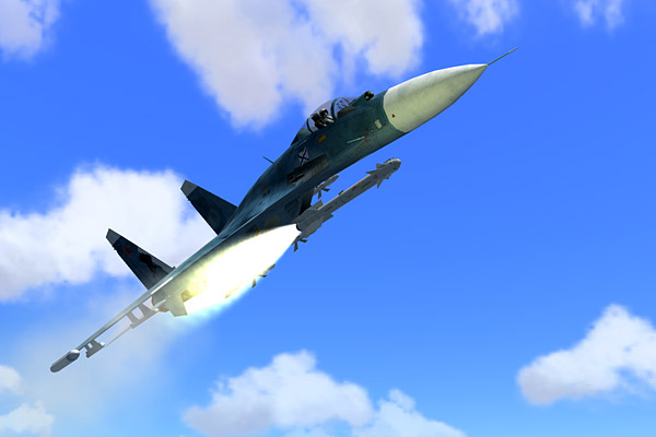 Immediately, the N-001 sensed that we were well in range of my R-27RE missiles, and command-locked!