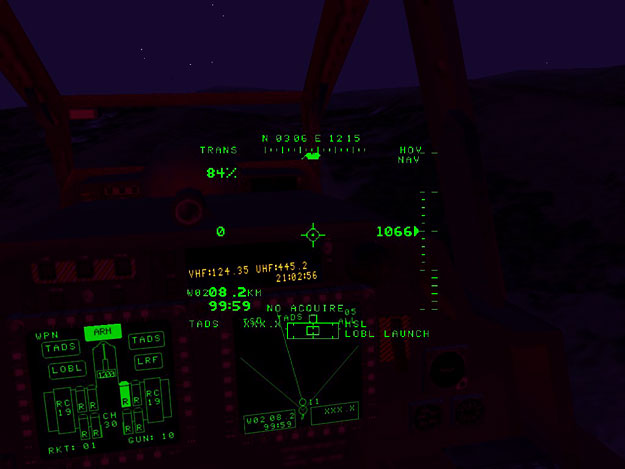 That famous LB2 red cockpit at night