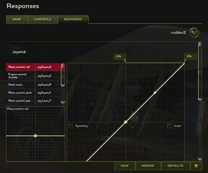 Adjustable Response Curves