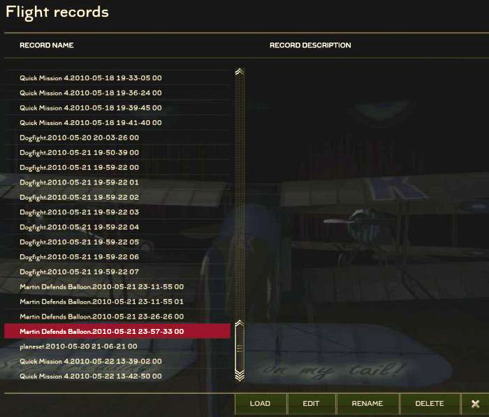 Mission Recorder - Player Records