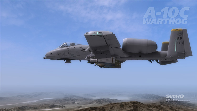 DCS: A-10C Warthog - Two A-10Cs over the Nellis range.