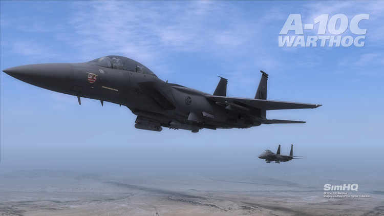 DCS: A-10C Warthog - Pair of new F-15Es over the Nellis range.