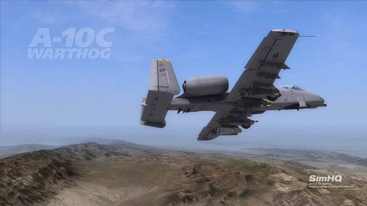 DCS: A-10C Warthog - A-10C over the Nellis range.