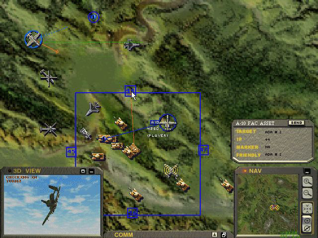 The Jane's A-10 Warthog map with FAC