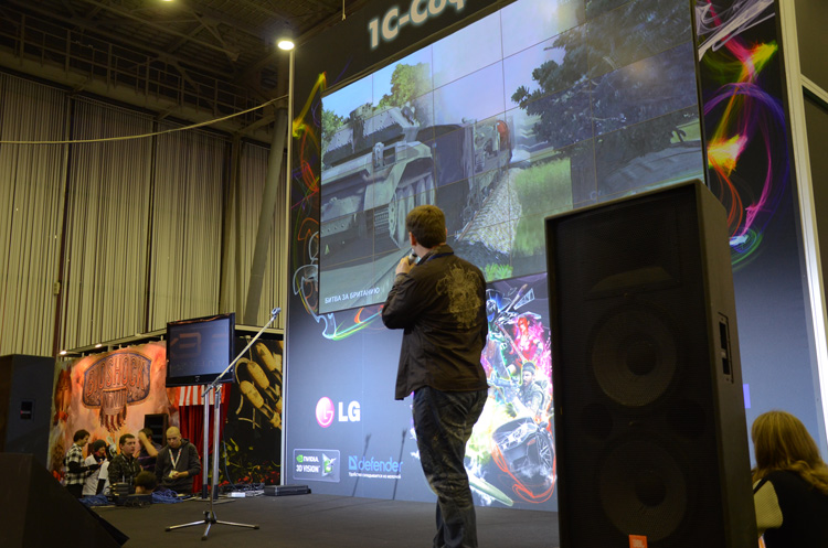 Oleg presents the Battle of Britain trailer at Igromir 2010