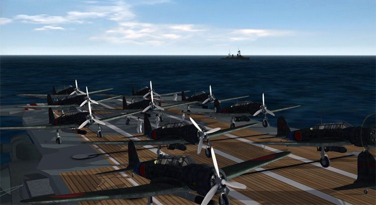 Rising Sun - The feeling of taking off from an Imperial Japanese aircraft carrier on December 7th is impressive.