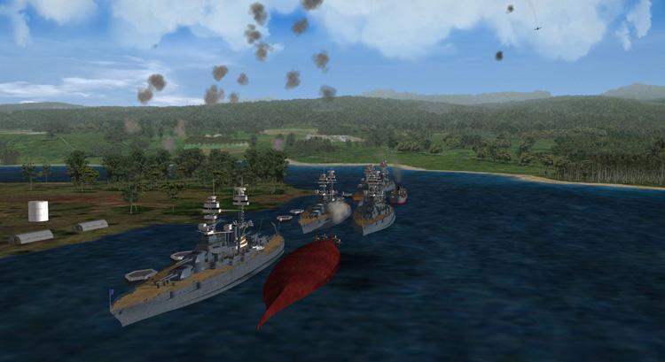 Rising Sun - Battleship Row.
