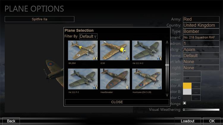 Plane Options