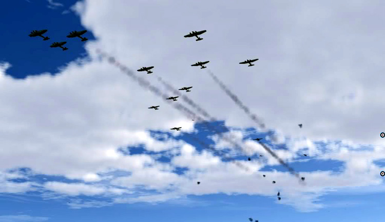 "Battle of Britain II: Wings of Victory - Update 2.12 - Better ""straggler"" behavior"