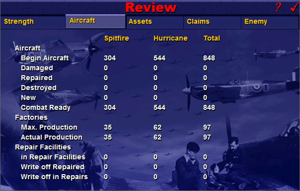 "Battle of Britain II: Wings of Victory - Update 2.12 - The strategic ""Commander Level"" report"
