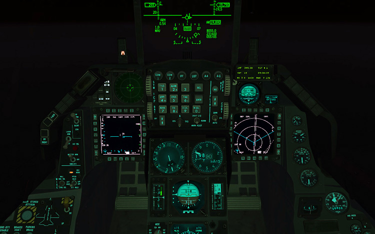 BMS 4.32 Falcon 4.0 - Night Cockpit