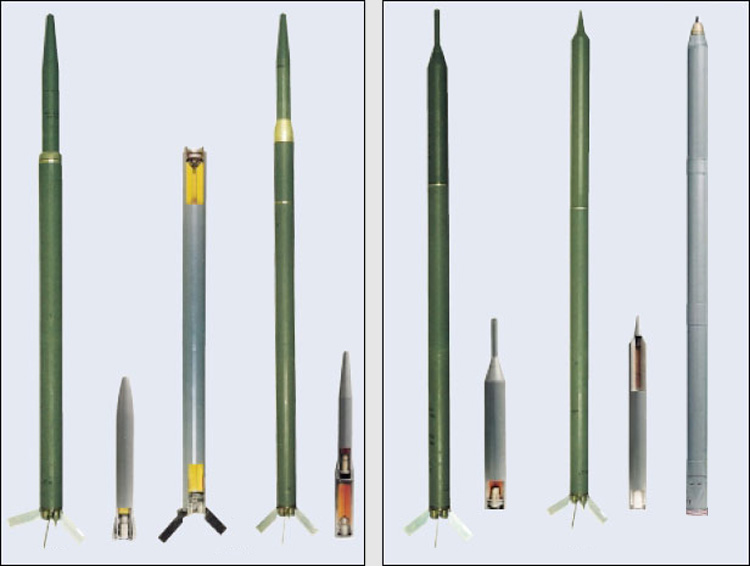 The S-13 family of rockets and warheads.