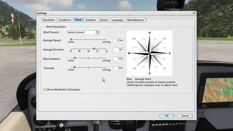Aerofly FS - Wind settings