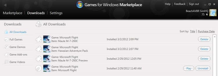 Microsoft Flight - Games for Windows Marketplace