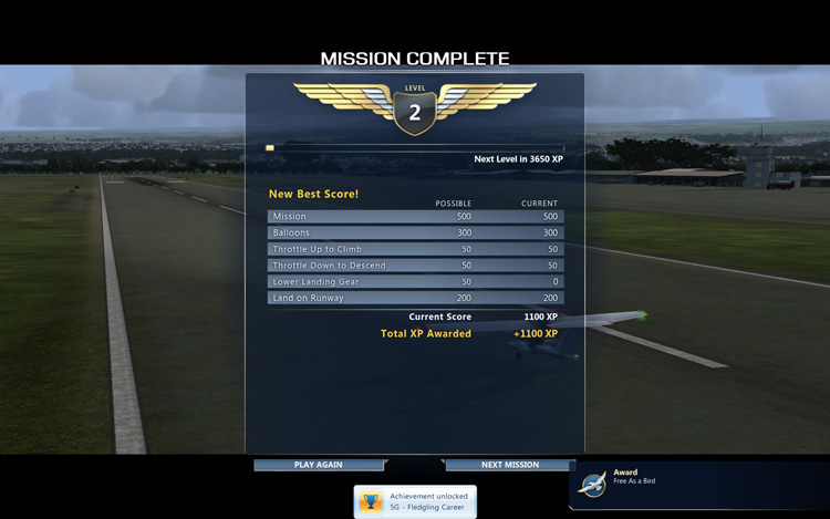 Microsoft Flight - Mission Complete