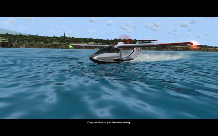 Microsoft Flight - Congratulations on Your First Water Landing
