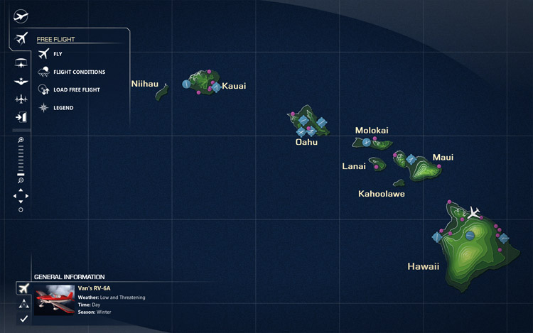 Microsoft Flight - Hawaii Map
