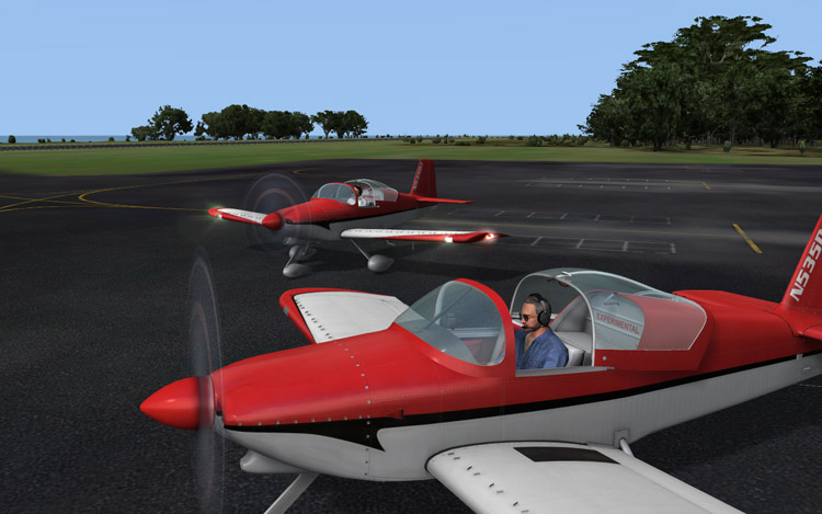 Microsoft Flight - Taxiing after a Multiplayer Session