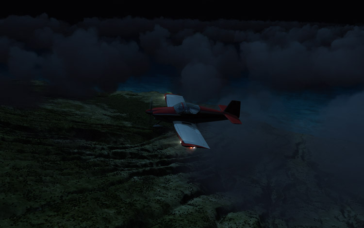 Microsoft Flight - Nighttime