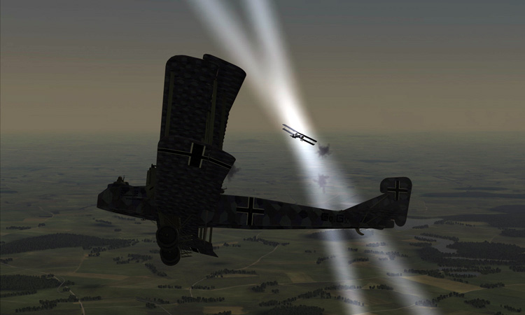 Rise of Flight - the blinding search lights