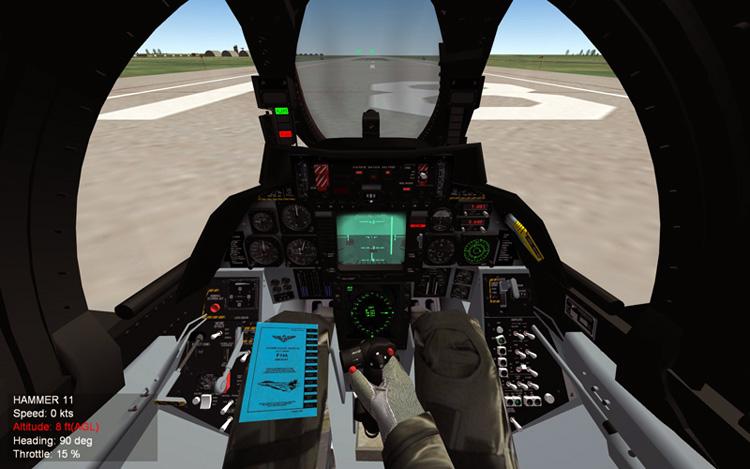 Mirage Factory Tomcat cockpit