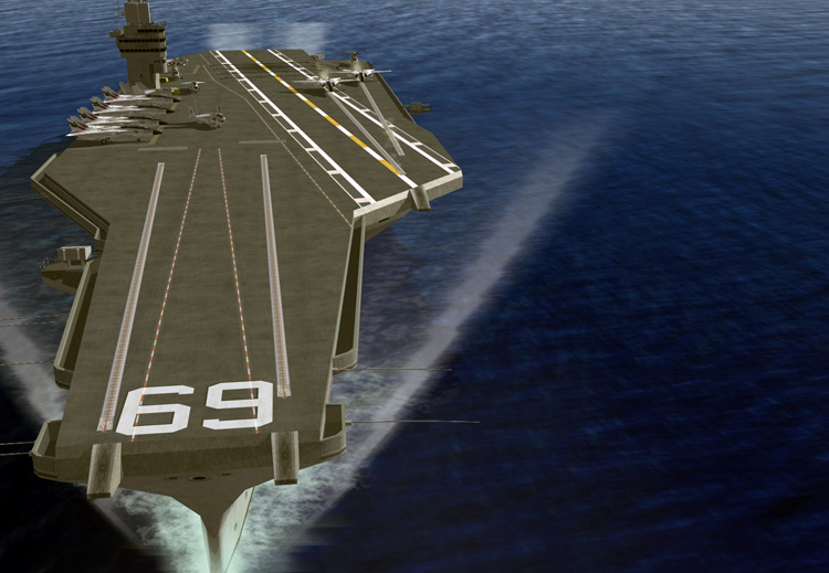 Strike Fighters 2: North Atlantic - New water texture