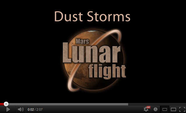 Lunar Flight - Mars Dust Storm